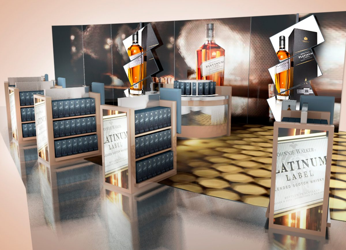 Johnnie Walker Gold and Platinum Label store