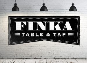 Finka Table and Tap Logo Wall