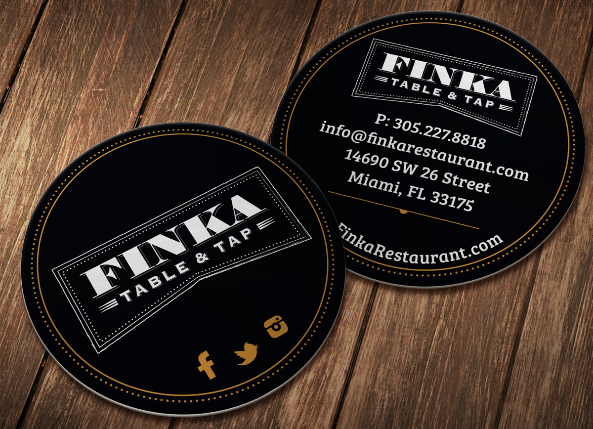 Finka rounded business card design