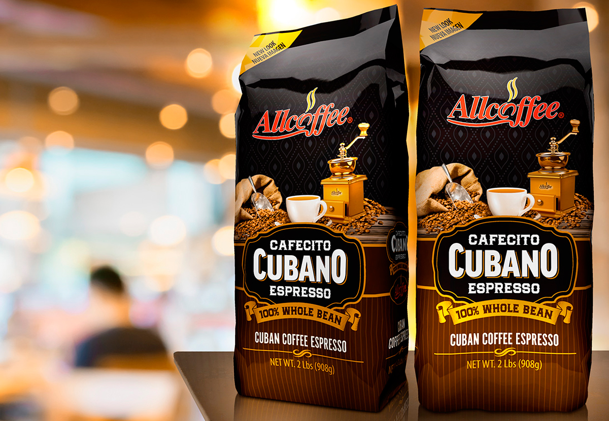 Allcoffee Cafecito Cubano Packaging design
