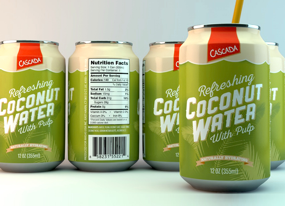 Cascada Coconut Water design