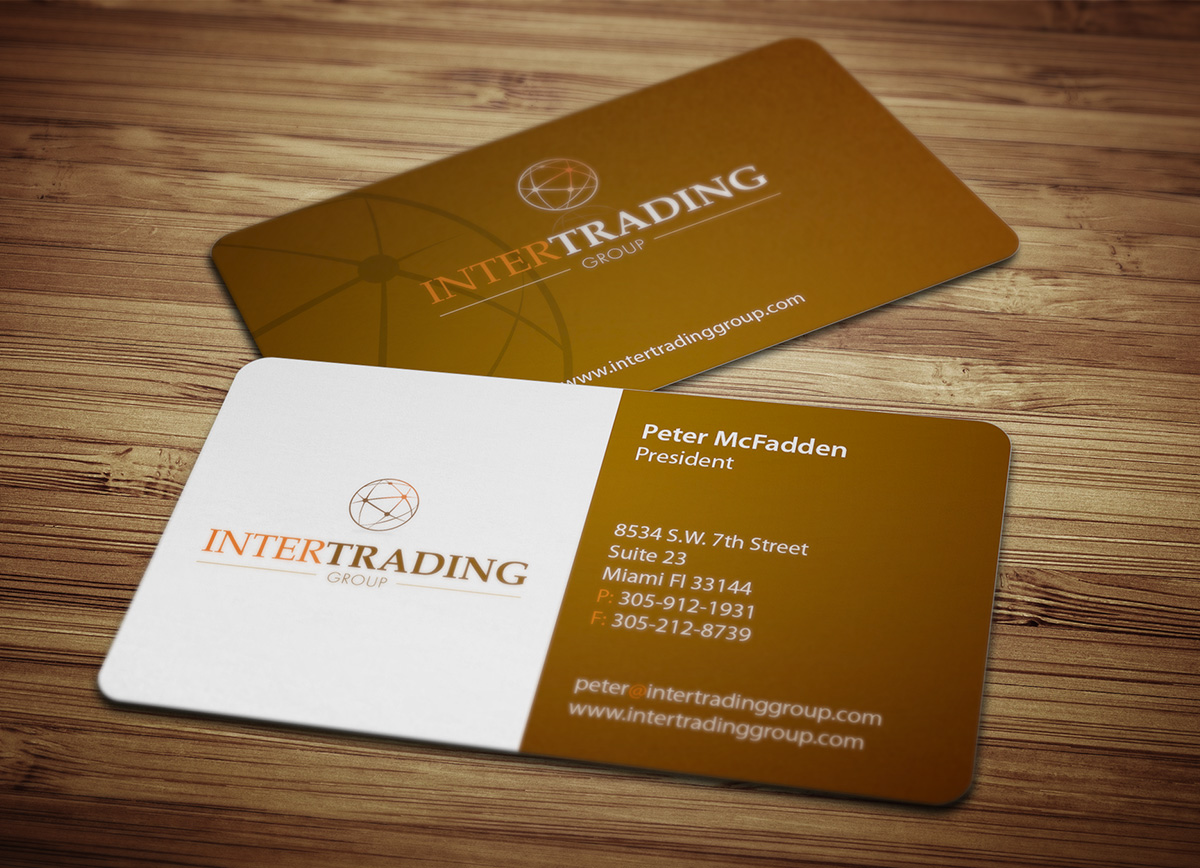 intertrading group business card design