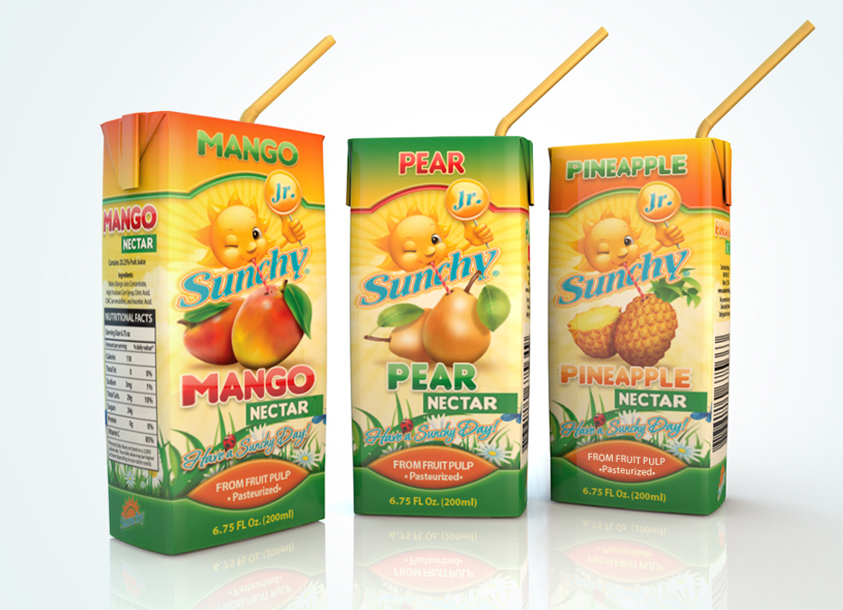 Sunchy Junior packaging design