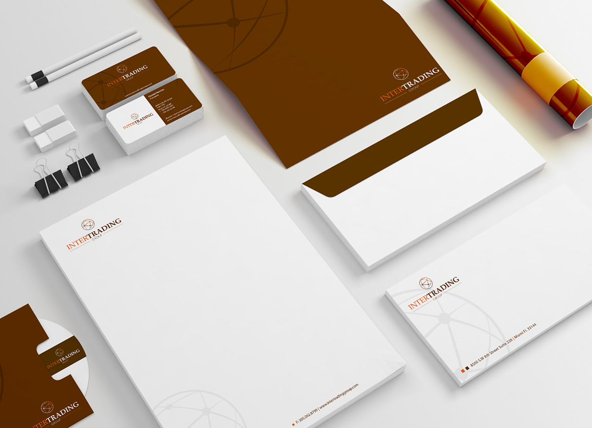 Intertrading group stationery design