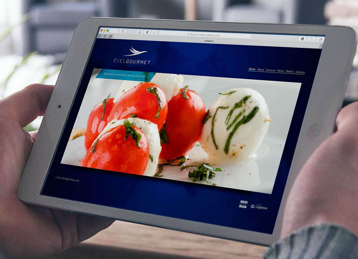 Ciel Gourmet online menu design
