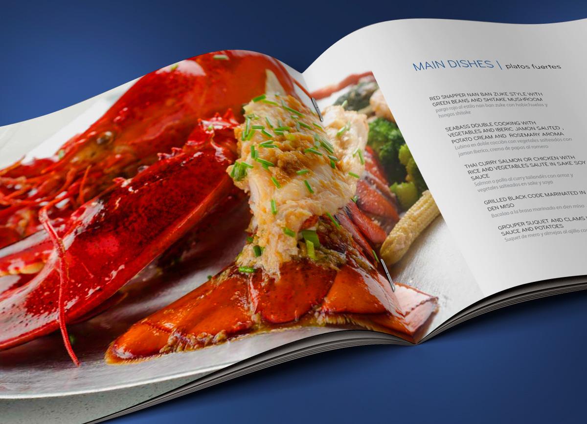 Ciel Gourmet menu design