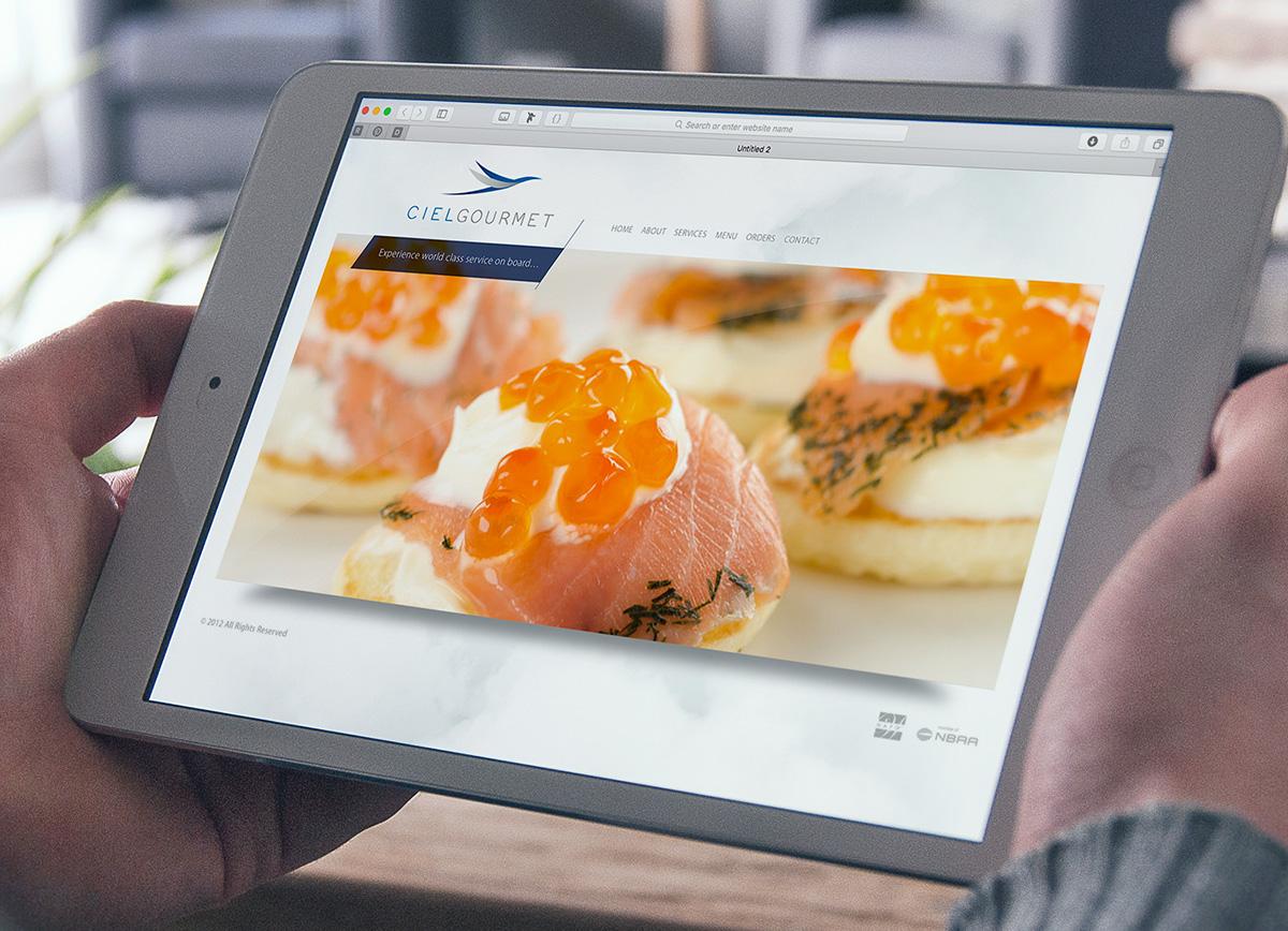 Ciel Gourmet web menu