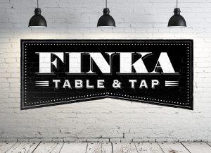 Finka Table and Tap Logo Wall