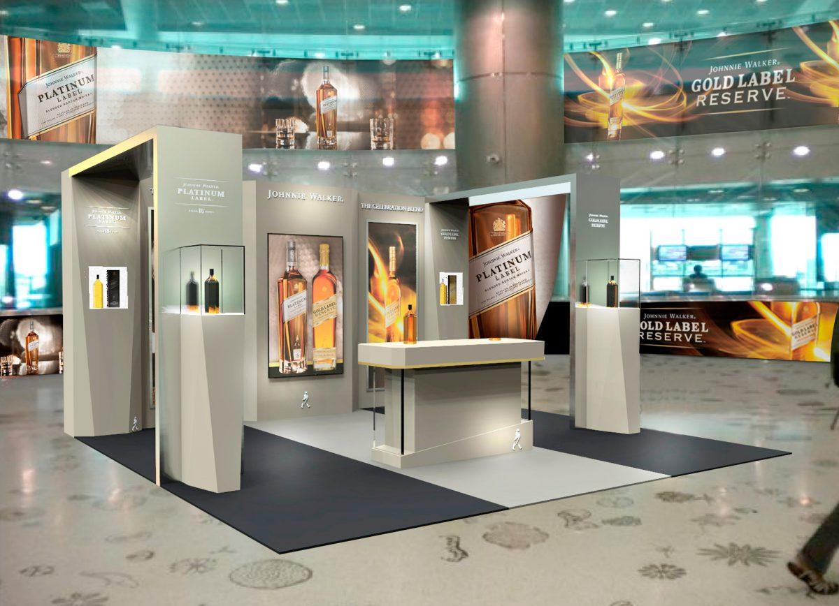 Johnnie Walker Platinum-Gold MIA airport