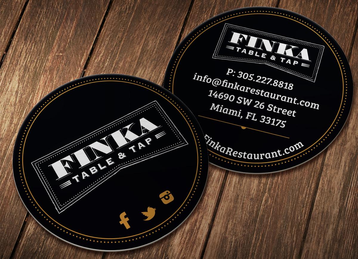 Finka rounded business card design