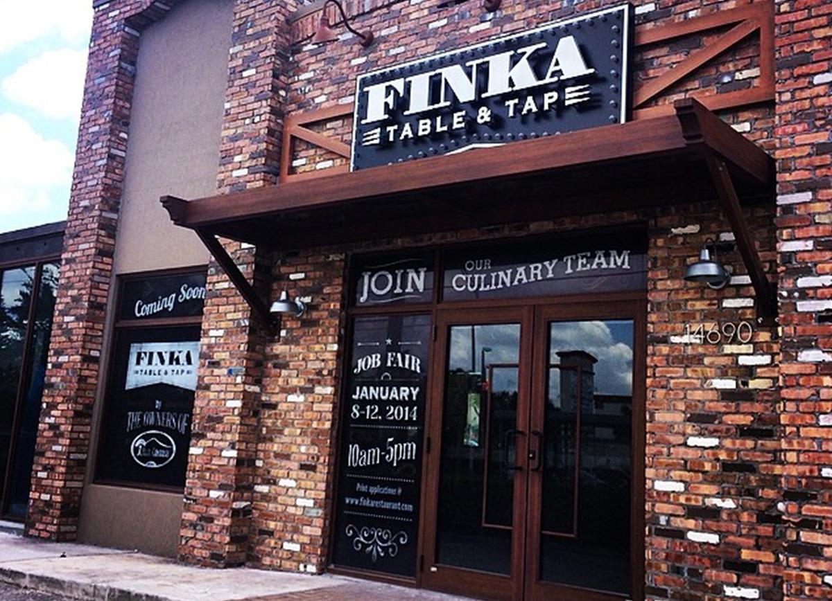 Finka Outside sign