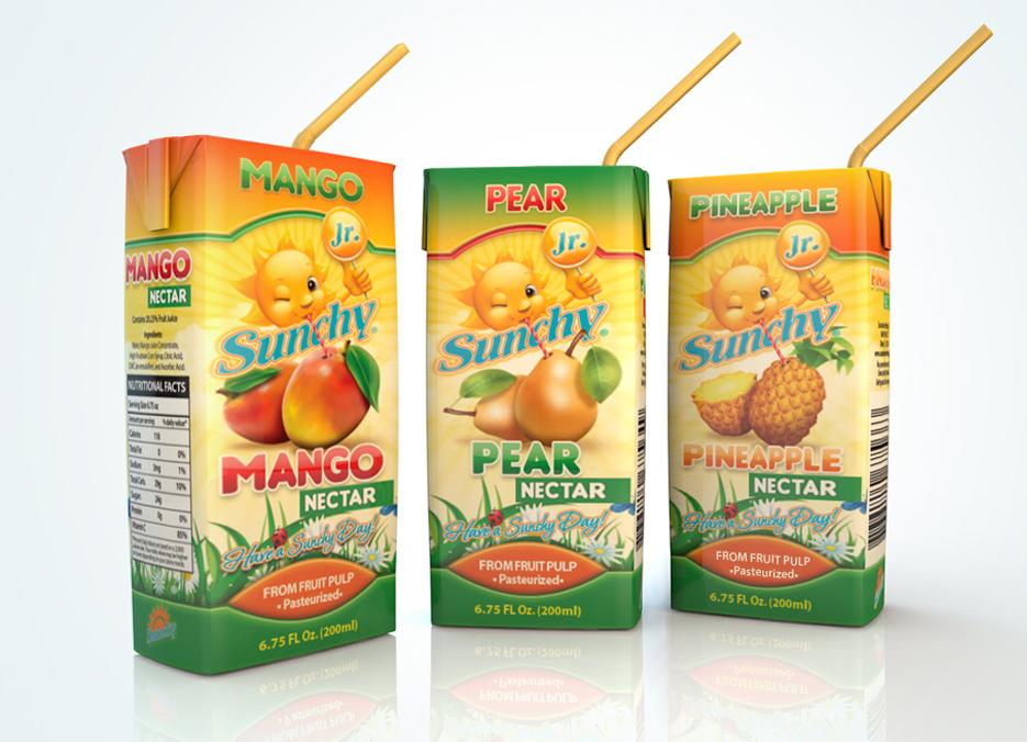 Sunchy Junior packaging design