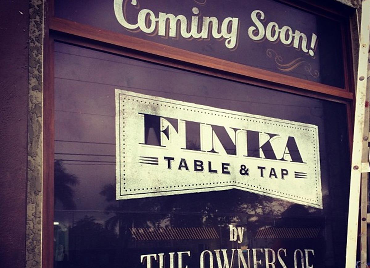 Finka window signs